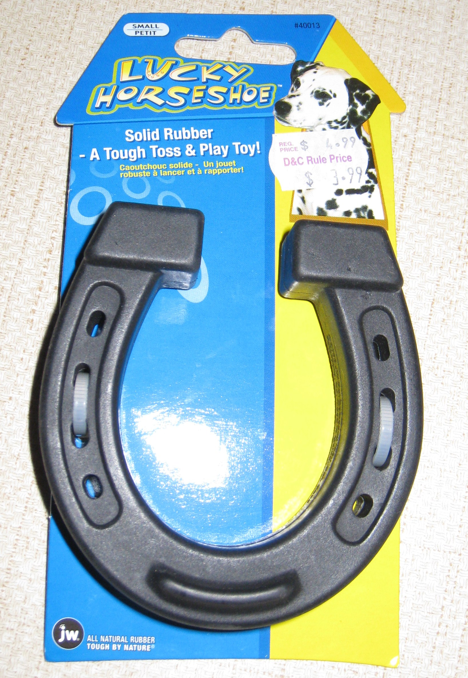 Lucky Horseshoe Dog Toy