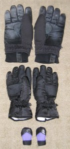 Big bear, medium bear, and baby bear gloves ;)