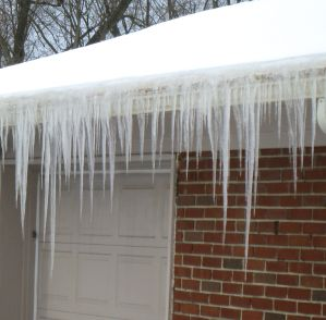 Mother Nature graced our home with crystal icicles.