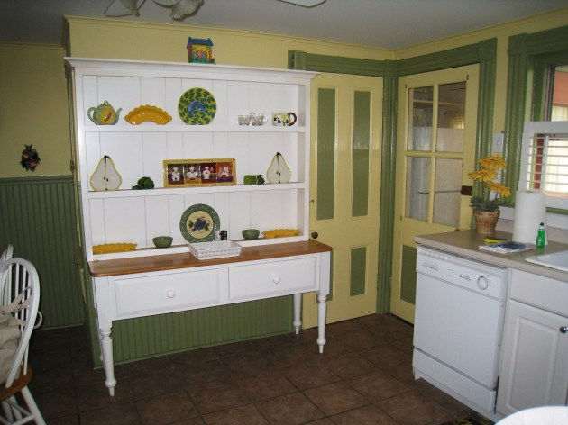 One corner of the bright, homey kitchen.