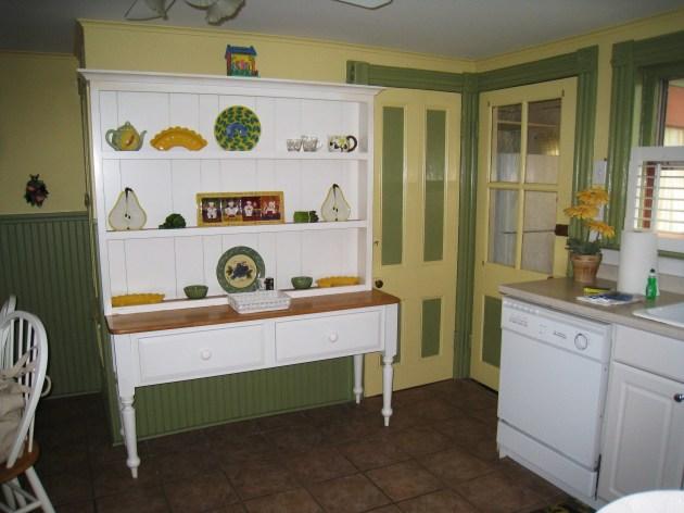 One corner of the bright, homey kitchen.