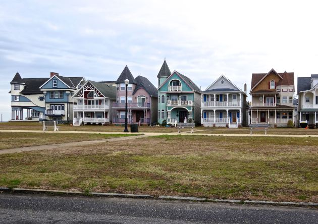 "They call these the ""Painted Ladies"" of the town - two facing rows of gorgeous Victorian homes right across the street from the beach. Prices? A cool $1.5 million (for those needing repairs) and UP. Beautiful, yes, but location is everything!"