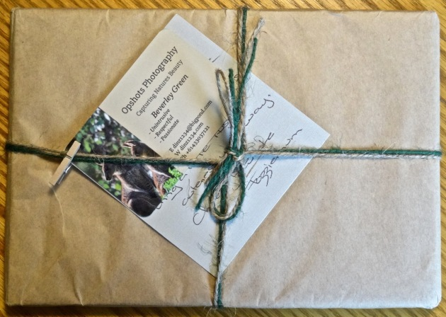 Bev takes such care in wrapping her cards - it makes them extra special.
